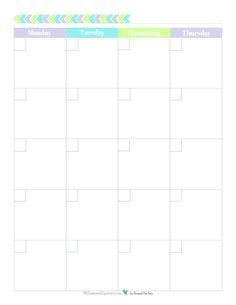 printable blank calendar template making this month blank