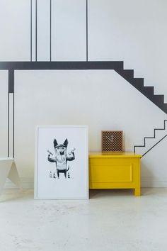 Decoración de pared - German shepher big print, screenprint 50x70 cm - hecho a mano por LoboLoco en DaWanda #decoración #deco #diseño #hechoamano #handmade #hogar #casa #DaWanda