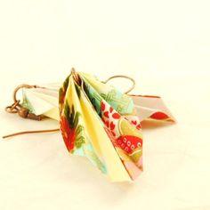 Pendientes de origami-3 / IMilanPiezasUnicas - Artesanio
