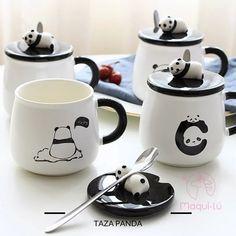 Cute Panda Mugs Cup Ceramic Personality Milk Mug with Lid Spoon Office Coffee Tumbler Creative Breakfast Cartoon Mugs Xmas Gifts Cute Coffee Mugs, Coffee Milk, Coffee Cups, Coffee Tumbler, Apollo Box, Breakfast Cups, Cute Cups, Cute Kitchen, Student Gifts