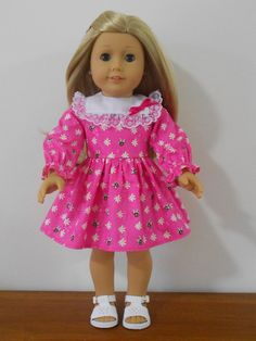 1804 Round Neck Dress Snugfit Collection doll by ValSpiersSews