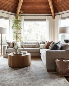 Living Room Sectional, Home Living Room, Living Room Decor, Family Room With Sectional, Living Spaces, New Furniture, Outdoor Furniture Sets, Family Room Furniture, Furniture Ideas