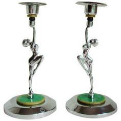Image result for art deco farberware candleholders