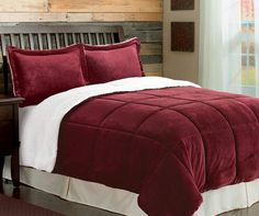 Red Sherpa 3-Piece Queen/King Comforter Set at Big Lots.