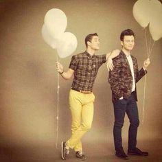 #Klaine #CrissColfer ❤ Glee100 photoshoot BTS