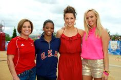 4 gold medalists: Mary Lou Retton, Gabrielle Douglas, Carly Patterson, and Nastia Liukin