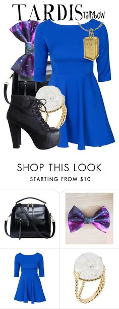 """""""TARDIS"""" by tallybow ❤ liked on Polyvore featuring Glamorous, Aurélie Bidermann and Jeffrey Campbell"""