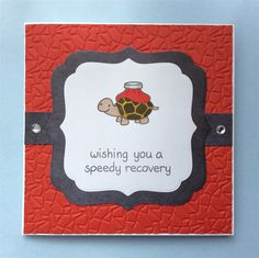Handmade Card, Speedy Recovery, Get Well Soon, On The Mend, Lawn Fawn, Cracked Tiles Embossing, Stamp, Spectrum Noir.