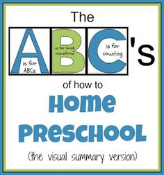 The ABCs of How to Home Preschool