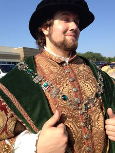 Lord Mayor's chain of office (or livery collar) for the Kansas City Renaissance Festival by Karen Troeh for Courtly Charm