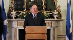 Alex Salmond, pictured, today announced his resignation claiming his time as leader 'is n...