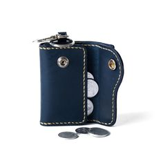 Voyej Leather Goods | Goods Key Wallet, Key Case, Keys, Navy Blue, Good Things, Watch, Leather, Life, Accessories