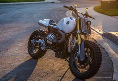 "BMW R NineT Scrambler ""Chocolate Slider"" by JSK Custom Design #motorcycles #scrambler #motos | caferacerpasion.com"