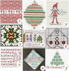 Free cross-stitch charts: Christmas – Needle Work