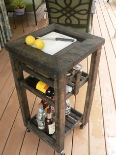 Mini Cart  Handcrafted Bar Cart by HerbsFurnishings on Etsy, $150.00