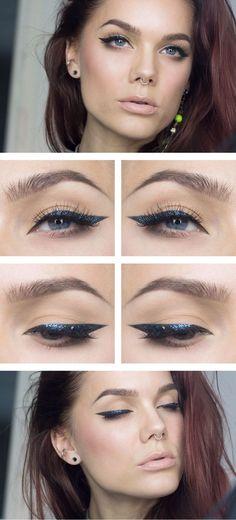 Todays look – Glitter eyeliner (via Bloglovin.com )