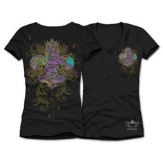 Mardi Gras Tee by KatydidCollection.com