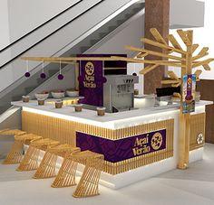 Arts And Crafts Office Furniture Restaurant Concept, Restaurant Design, Juice Bar Design, Bar Counter Design, Bubble Tea Shop, Cafe Counter, Bakery Interior, Food Kiosk, Jewellery Shop Design