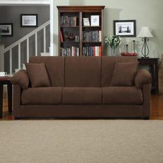 Montero Microfiber Convert-a-Couch Sofa Sleeper Bed, Multiple Colors