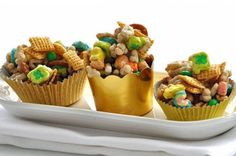 Pot of Gold Chex Mix from Fun St. Patrick's Day Treats for Kids Slideshow