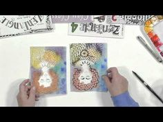 How to Incorprate Watercolors with Zentangle Drawings - YouTube by Suzanne McNeil, Certified Zentangle Teacher