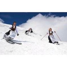 Telemark skiing in bunad. Think it would be a little drafty?