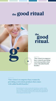 The Good Ritual | all-natural wellness productsThe Good Ritual's main goal is to create unique wellness products that enhance health and empower modern women. branding, logo design, colorful brand design, colorful logo, logo inspo Collateral Design, Brand Identity Design, Branding Design, Web Design Studio, Web Design Company, Store Design, Logo Guidelines, Cabinet Medical, Logo Type