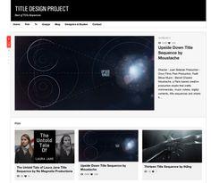 Five Inspiring Motion Graphics Websites: Title Design Project