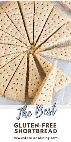 If you love buttery melt in your mouth shortbread, my homemade gluten free shortbread is the best. Easy directions, enjoy it plain or drizzle with chocolate! Shortbread cookies are perfect anytime, or for the holidays. fearlessdining Gluten Free Pastry, Gluten Free Sweets, Gluten Free Cooking, Dairy Free Recipes, Gluten Free Party Food, Sin Gluten, Foods With Gluten, Pain, Cookies Et Biscuits