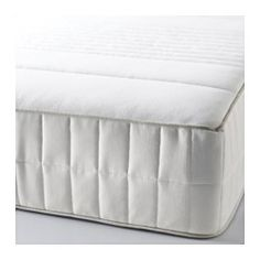 IKEA - MYRBACKA, Memory foam mattress, firm/white, Queen, , A thick layer of memory foam molds to the contours of your body, relieves pressure, and helps you to relax.Lambs wool filling gives a soft surface and help keeps a consistent temperature.High resilience foam gives support for each part of your body by closely following your movements.Comfort zones give very precise support and relieve pressure on your shoulders and hips.A generous layer of soft filling adds support and comfort.Easy…