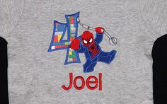 Spiderman Lego Birthday Shirt by lsembroidery on Etsy