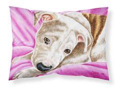 Dream Girl Pit Bull Fabric Standard Pillowcase AMB1413PILLOWCASE