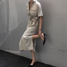 Tendencias Oda a lo natural - Chic Shopping Sevilla Casual Dresses, Casual Outfits, Fashion Dresses, Daily Dress Me, Chic Shop, Looks Chic, Elegant Outfit, Daily Fashion, Fashion Fashion