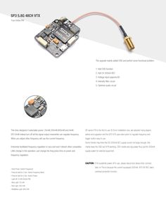 Diatone SP3 5.8G 48CH OSD 0/25/200/600MW Switchable Video Transmitter RaceBand