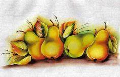 pintura em tecido pêssegos - Pesquisa Google