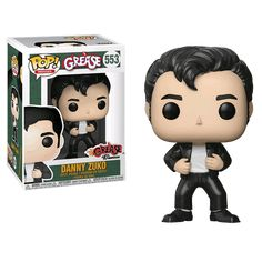 "Experience the friendships, romances and adventures of a group of high school kids in the 1950s. Welcome to the singing and dancing world of ""Grease,"" the most successful movie musical of all time. A wholesome exchange student and a leather-clad Danny have a summer romance, but will it cross clique lines? This figure features the leather-clad Danny Zuko, second-in-command of the T-Birds at Rydell High School & boyfriend of Sandy Olssen. Approx. 9.5cm tall."