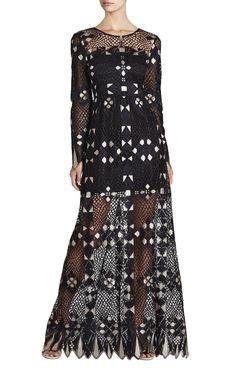 Taliah Long-Sleeve Maxi Dress | BCBG