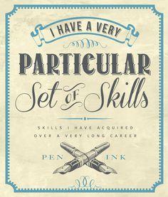 Particular set of skills