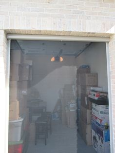 Panoramalite Pull Down Retractable Screen For A Single Car Garage Door! A  Home In Rancho