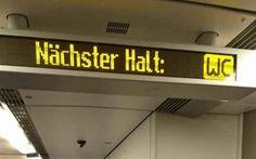 Die Deutsche Bahn ist sehr nett, wenn viele auf Toilette müssen.