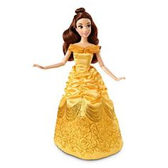 Disney Belle Classic Doll - 12'' | Disney StoreBelle Classic Doll - 12'' - The <i>Beauty and the Beast</i> star sparkles with fairytale glamour in her glittering gold gown. Our Belle Classic Doll features poseable arms and legs so you can create your own tales as old as time.