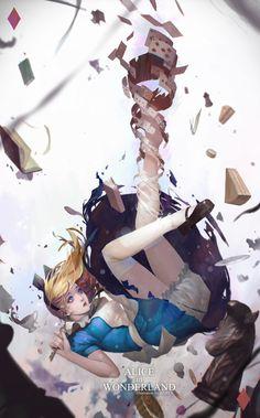 Alice in wonderland, Kim Han seul (aka Haren) on ArtStation at https://www.artstation.com/artwork/mW249
