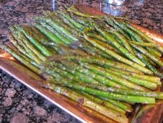 Roasted Asparagus with Balsamic Vinegar Italian Herbs marinade and ...