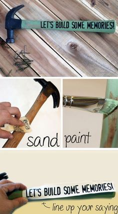Customized Hammer | 12 DIY Fathers Day Gifts for Grandpa from Kids that he will love!