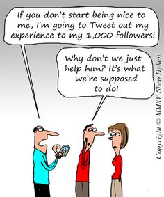 Customer Service Experience Some of my clients have mentioned to me that social media gives customers such an upper hand. One even mentioned that he felt that his customers are holding his company hostage. These clients are concerned that if they don't give their customers the service or experience that they think they deserve, they …