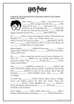 SIMPLE PAST TENSE - Harry Potter