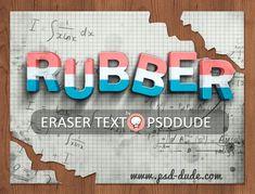 Eraser Photoshop Text Effect - Photoshop tutorial | PSDDude