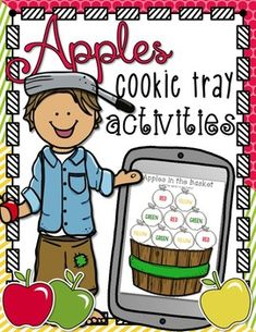 This pack of cookie tray activities includes an apple theme. There are 25 activity pages included in this pack. These themed packs are meant to be smaller, with enough activities for 1-2 weeks. The following activities are included:Color sorting apples (5 activity pages)Color matching applesColor matching apples with wormsJohnny apple seed matchingShape apple matching Chevron apple matching Label the apple Magnetic letter matching (3 activity pages)Apples in the basketApples in the basket…