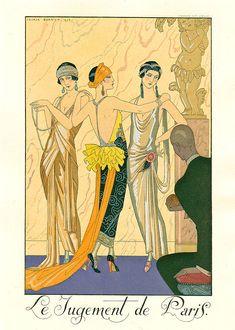 Le Jugement de Paris, I love stylisation, it is so chic