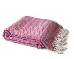 Karamursel Peshtemal Pink Turkish Towel Fouta by Orientina on Etsy, $25.90